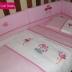 Pink & White Flamingo Cot Set