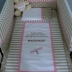 Beige/White & Pink Personalised Cot Set