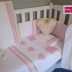 Pink & Gold Hearts Full Cot Set