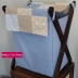 Blue & Beige Laundry Hamper