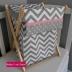 Chevron & Pink Laundry Hamper