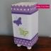 Lilac & White Butterfly Lantern
